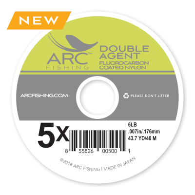 arc fluorocarbon coated nylon double agent fly line